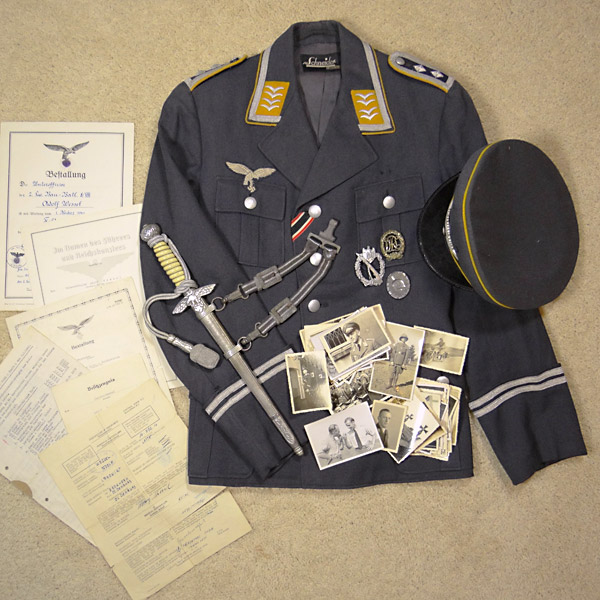 Luftwaffe Uniform & Veteran Lot – Adolf Wessel