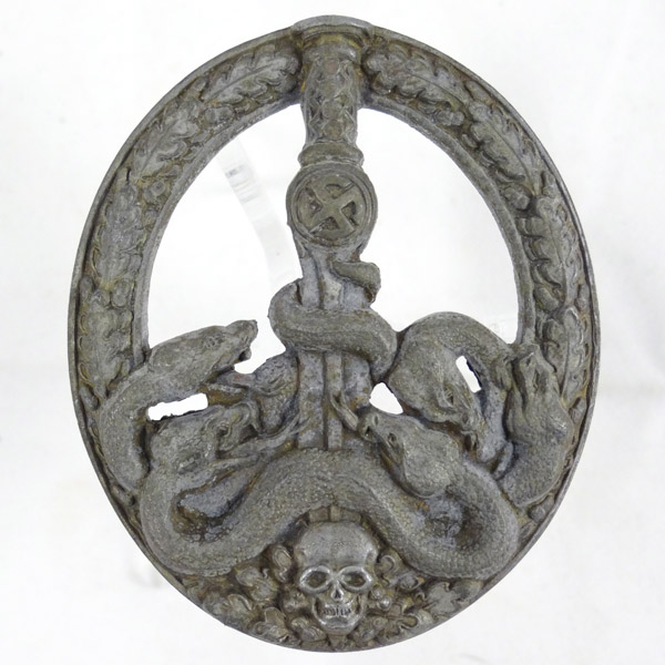 Ant-partisan Badge in Silver with Scarce Thin Pin