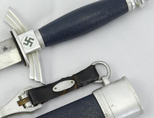 """DLV/NSFK Glider Pilot Dagger — Helbig """"Crackle Finish"""""""