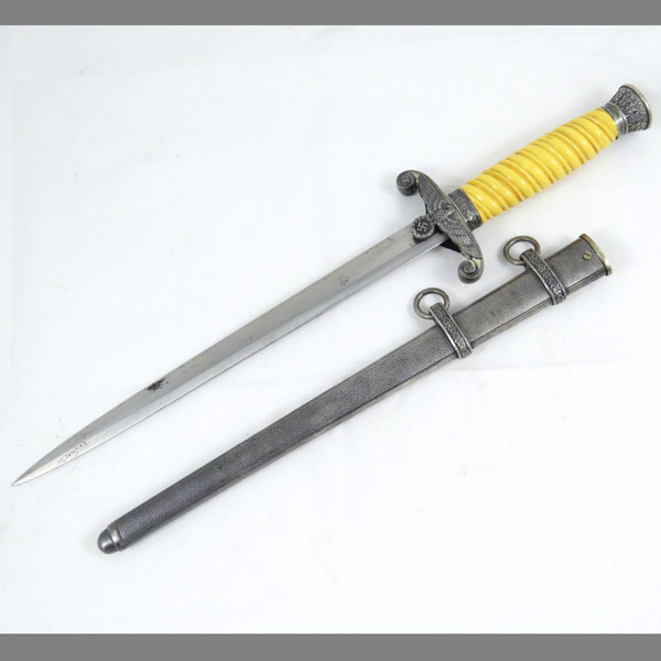 German Army Dagger from Eickhorn with Unique Grip Rib Pattern
