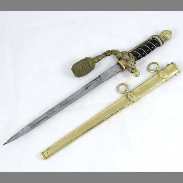 First Model Kriegsmarine Dagger (rare black grip) by Alcoso