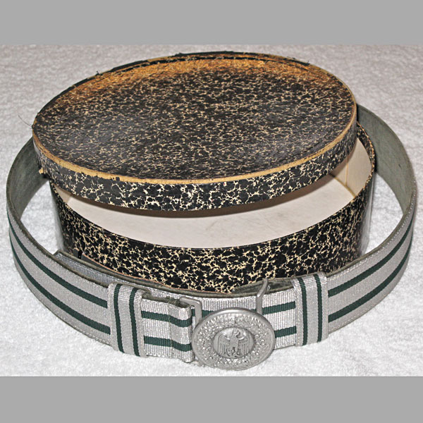 Heer Officer's Brocade Belt & Buckle with Original Box