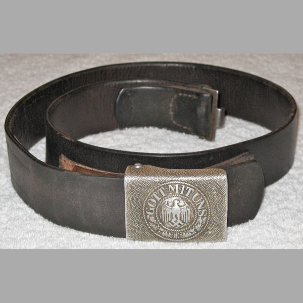 Heer EM/NCO Belt & Buckle with Leather Tab