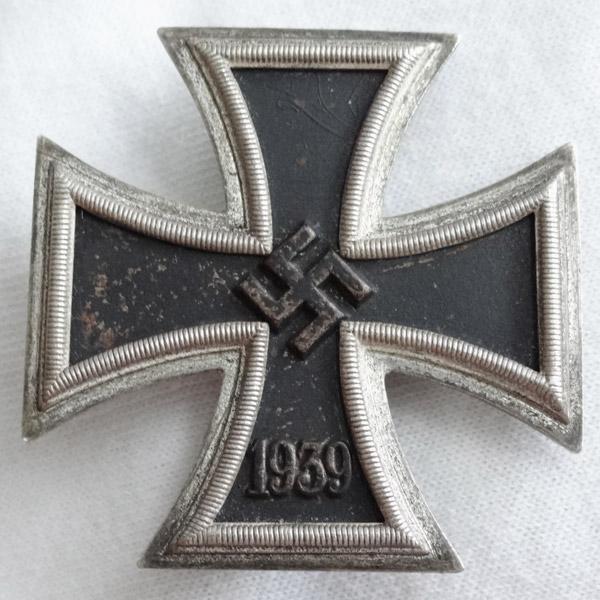 """1939 Iron Cross First Class by C.F. Zimmermann """"L/52, 20"""""""