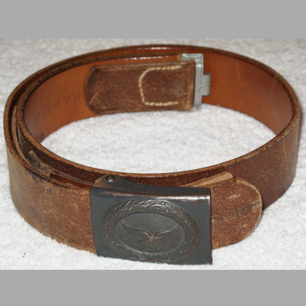 Luftwaffe EM/NCO Brown Belt & Buckle Set