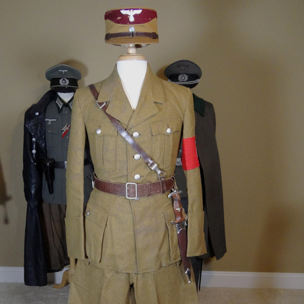 NSDAP SA Political Uniform Tunic, Breeches & Kepi Grouping