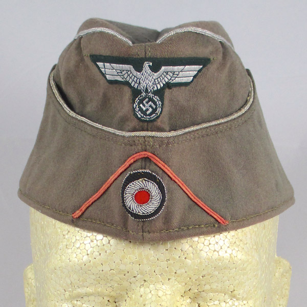 M38 Panzer Officer Field Gray Overseas Cap – Named