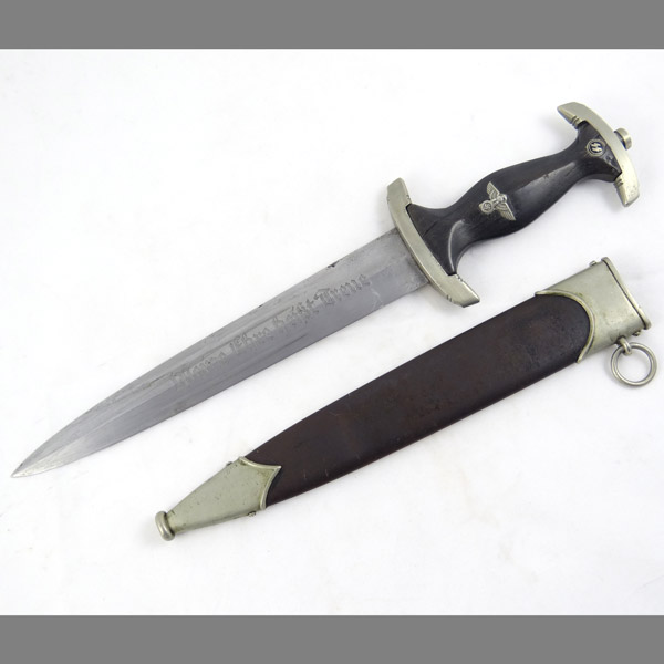 Richard Abr. Herder Partial Ground Röhm SS Dagger with Serial Number