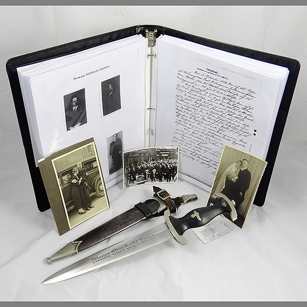 Numbered SS Dagger with Period Photos & 62 Page Dossier