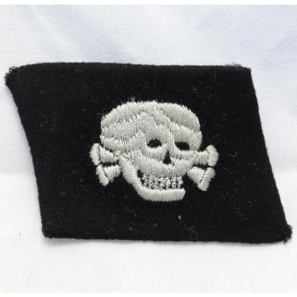 SS Totenkopf Dachau Skull Collar Tab