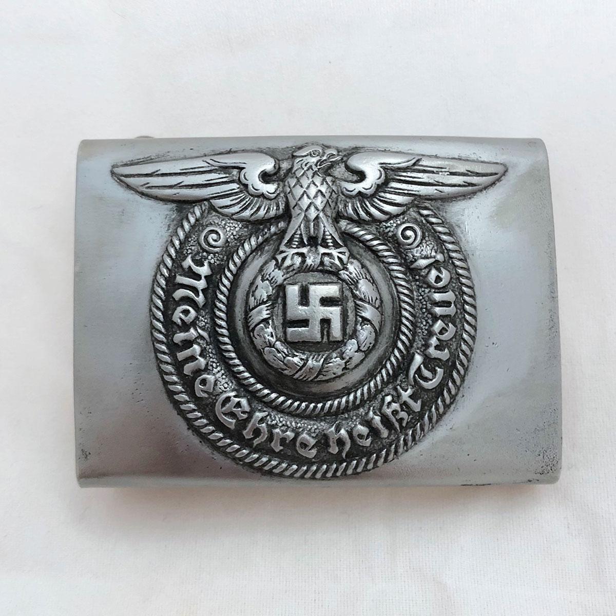 Waffen SS EM/NCO Steel Belt Buckle (unmarked)