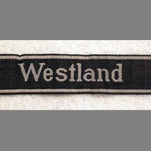 SS Panzer-Grenadier Regiment 10  Westland Cuff Title in BeVo
